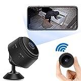 1080P HD Mini Camara de Vigilancia,Portátil WiFi Cámara con IR Visión...