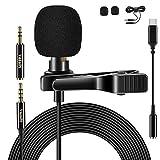 VoJoPi Micrófono de Solapa Tipo C con Cable de extensión de 79 Pulgadas,...