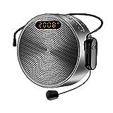 Amplificador de Voz Portátil 15W Bluetooth Personal Pa System con Micrófono...