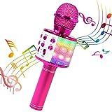 ShinePick Micrófono Karaoke Bluetooth, 4 en1 Microfono Inalámbrico Portátil...