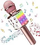 Micrófono Inalámbricos Karaoke, Microfono Niños Bluetooth Portátil con...