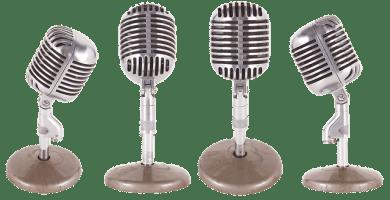 Micrófono inalámbrico vintage